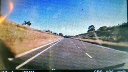 A motorcycle was caught travelling more than 100mph on the A117 in Lowestoft. Photo: Suffolk Constab