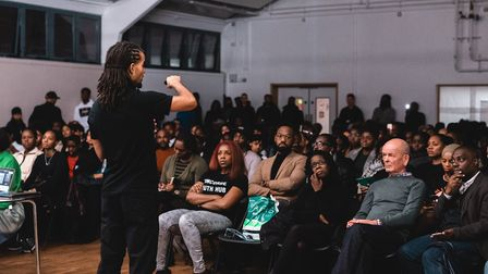 Akala spoke about his new book and answered questions from the audience. Picture: Georgiana Chitea