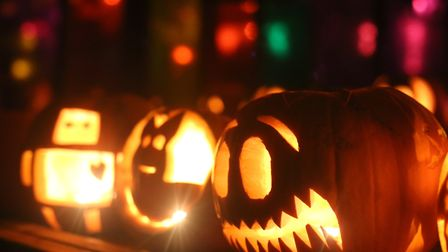 Pumpkin carving at the Dalston Eastern Curve Garden. Picture: Sandra Keating