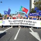 The People's Vote March to demand a final say on the Brexit deal. (Photo by Nicola Tree/Getty Images
