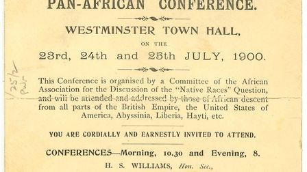 An invite to the first Pan-African Conference. Picture: Public Domain