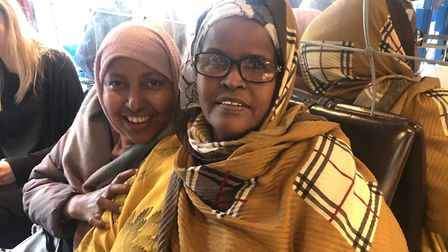 Local Hackney-Somali women come to the shop in Dalston for advice and support. Picture: Holly Chant