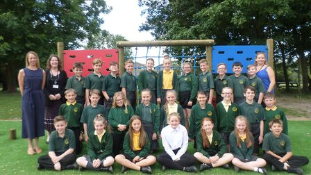 Top Class 2018: Oulton Broad Primary School's leavers. Photo: Oulton Broad Primary School