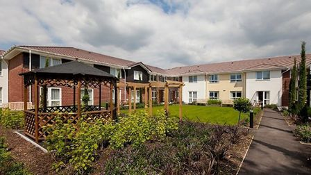 The outdoor space at Britten Court in Lowestoft, which has won a national award. Picture: Care UK