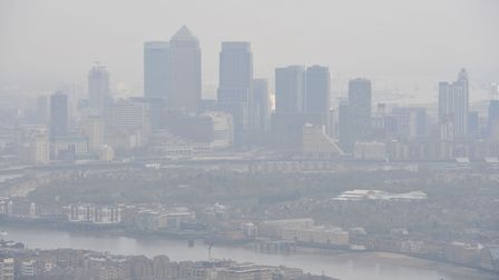 File photo dated 10/04/15 of air pollution over London. Picture: Nick Ansell/PA