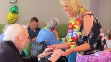 There was a special Hawaiian Day at the Wellbeing Day Centre in Lowestoft. Picture: Daniella Penedo