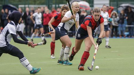 Lily Owsley in action for Hampstead & Westminster against East Grinstead (pic Mark Clews)