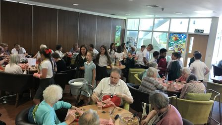 The Big Lunch held at Sams Café in Kessingland. Picture: Access Community Trust.