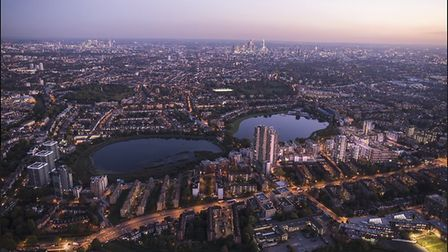 A birdseye view of the Woodberry Down Estate. Picture: Hackney Council