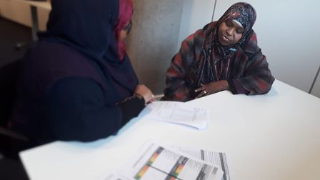 Ifraah Samatar volunteering her time to do ad hoc services - helping and supporting people in the co