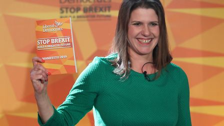 Liberal Democrats leader Jo Swinson during the launch of her party's manifesto at FEST, Stables Mark
