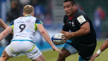 Saracens' Mako Vunipola during the Heineken Champions Cup pool four match at Allianz Park, London.