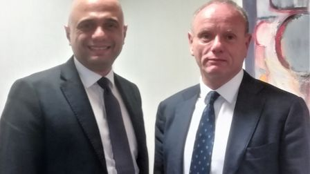 Chancellor Sajid Javid urged voters in Finchley and Golders Green to back Mike Freer at a meeting in