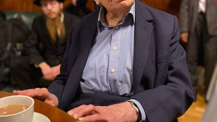 Harold Symons at the Town Hall reception held for his 100th birthday. Picture: Michael Desmond