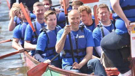Last year's East Anglian Dragon Boat festival in Oulton Broad. Picture: Archant library.