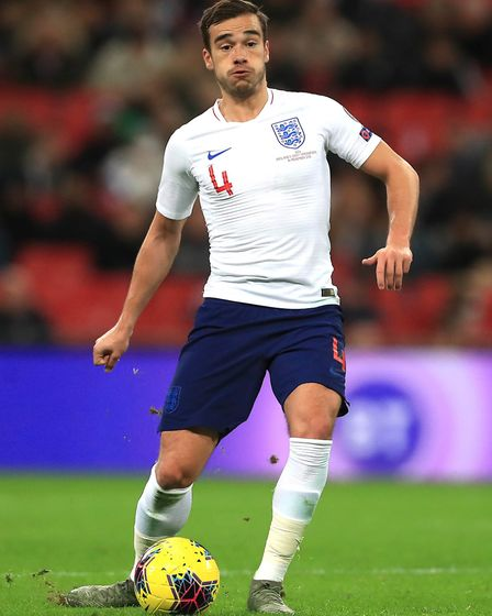 England's Harry Winks during the UEFA Euro 2020 qualifying match at Wembley (pic Mike Egerton/PA)