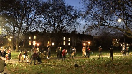 St. Martin's day procession at London Fields. Picture: @crusaderproject