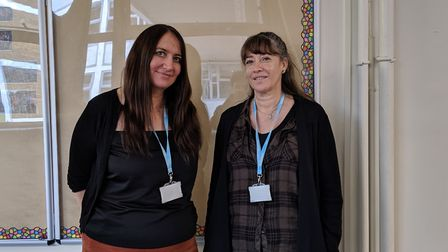 Co-headteachers at Fortismere School Zoe Judge and Jo Davey. Picture: Sam Volpe