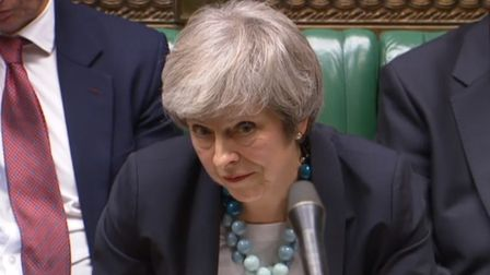 Prime Minister Theresa May in the House of Commons. Photograph: PARBUL/PA Wire.