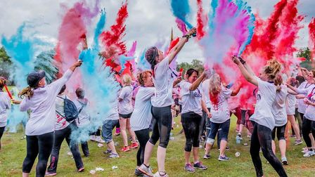 Action from a previous EACH Colour Dash. Picture: Matthew Usher Photography.
