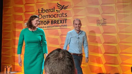 Jo Swinson was introduced at the Lib Dems' manifesto launch in Camden by local candidate Matt Sander