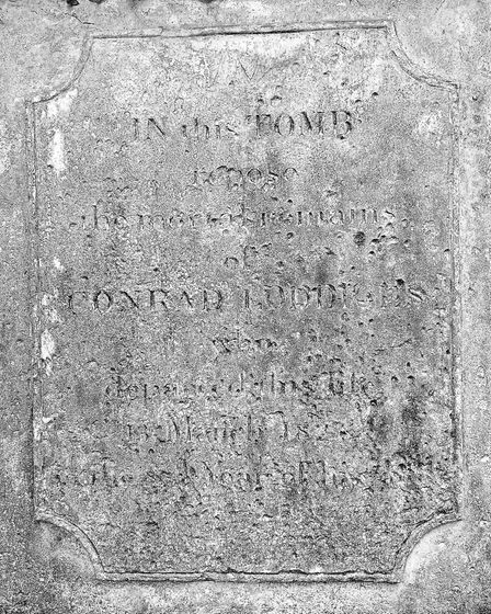 The Loddiges' family tomb in St John at Hackney church yard. Picture: Zac Lloyd
