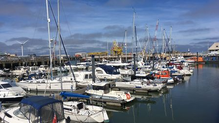 Boats at the Royal Norfolk and Suffolk Yacht Club. Picture: Thomas Chapman