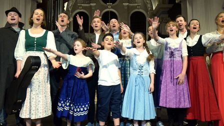 Hampstead Players in rehearsal for their 2019 production of The Sound Of Music