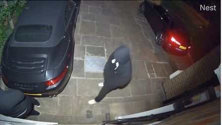 A still from footage of an aggravated burglary at a house near Abbey Road. Picture: Met Police