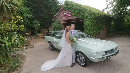 Hannah Joy and Ty Tooze were married in what was the first wedding at Henstead Exotic Gardens. Pictu