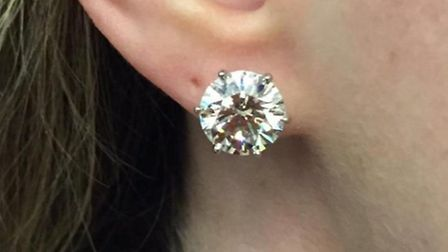 A diamond earring also taken from the Highgate mansion. Picture: Met Police