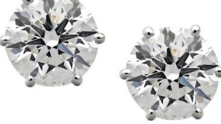 A pair of Bellduc diamond earrings, also stolen from a Hampstead home. Picture: Met Police