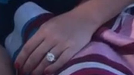 A ring with a white gold band and 7 carat diamond stolen from a Hampstead Lane home. Picture: Met Po