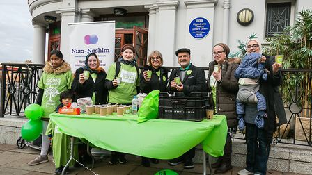 Mitzvah Day saw bulbs planted at locations including the Islamic Centre at the Golders Green Hippodr