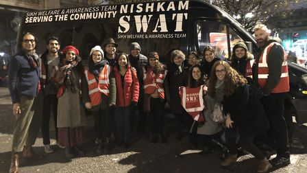 Members of the Liberal Jewish Synagogue in St John's Wood joined up with Sikh campaigners Nishkam Sw