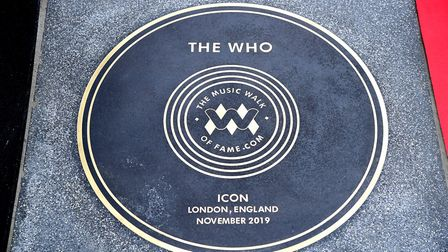The first stone unveiled on Music Walk Of Fame in Camden, London. Picture: Ian West/PA Wire