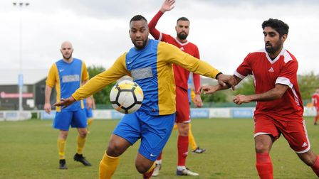 Man of the match James Esprit in action against Kenningwell (Pic: John Eager)