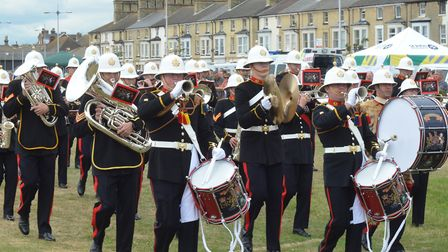 The Royal Marine Band Collingwood perform at last year's Lowestoft's Armed Forces Day. Pictures: Mic