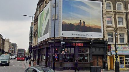 The advert at the junction of Kingsland Road and Dalston Lane. Picture: Google