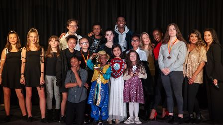 The winners and judges of the Fiorentini's Got Talent show. Picture: Michael Bourke
