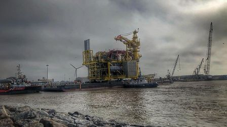 The module which left Lowestoft port this morning. Picture: Barry Foster
