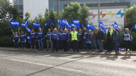 Normal lessons at Lowestoft Sixth Form College were cancelled on Wednesday as members of the NASUWT