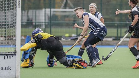 Joyce Esser scores for Hampstead & Westminster (pic Mark Clews)