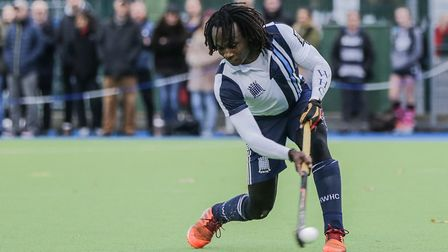 Kwan Browne scores for Hampstead & Westminster (pic Mark Clews)