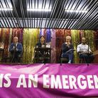 The panel at the Extinction Rebellion hustings at The Mildmay Club. Picture: Polly Hancock