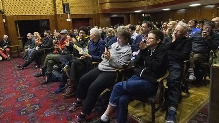 The audience at the Extinction Rebellion hustings at The Mildmay Club in Newington Green. Polly Hanc