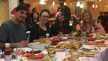 Hackney Christmas Dinner provides a big Christmas meal, games, hair and nails salons plus other acti
