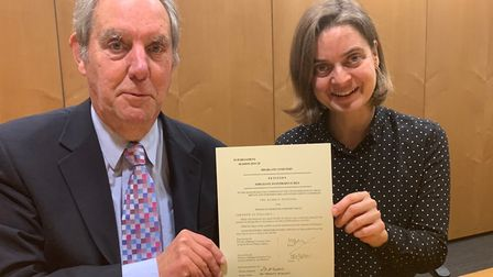 """Martin Adeney and Katy Baldwin signed Highgate Cemetery's """"petition for leave"""" to introduce a Privat"""