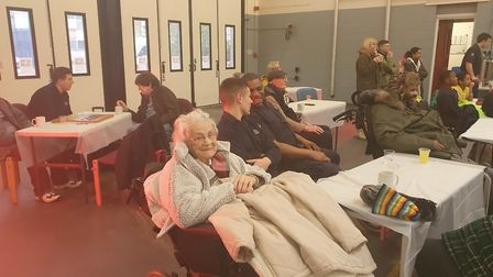 Older people from care homes in Homerton joined school kids in visiting the fire station. Picture: H