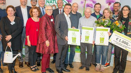 The Wildlife Gardeners of Haggerston were presented with a European award for creative, ecological u